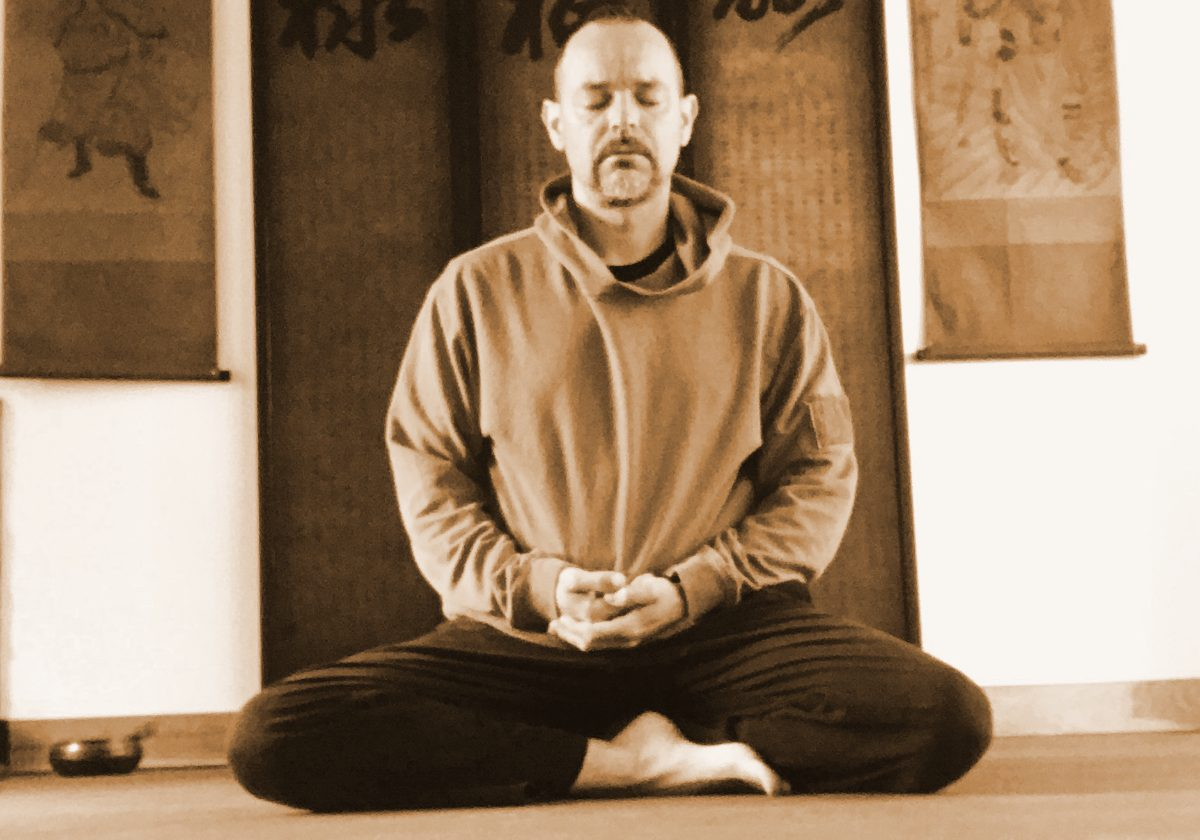 Sifu Tim Franklin meditating - cultivating energy, mind, spirit.
