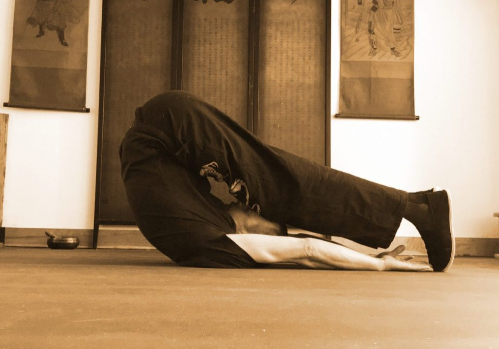 Sifu Tim Franklin practicing Zen Yoga